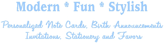 Personalized Note Cards, Invitations, Stationery, Favors