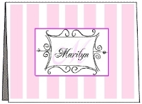 Monogrammed and Name Note Cards, Personalized Note Cards